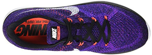 Nike Flyknit Lunar3, Chaussures de Running Entrainement Homme Negro (Negro (Black/White-Concord-Vvd Purple))