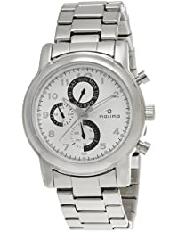 Maxima Attivo Multifunction White Dial Men -26832CMGI