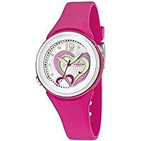 Calypso  watches K5576/5 - Reloj analógico de cuarzo para niña, correa de goma color rosa