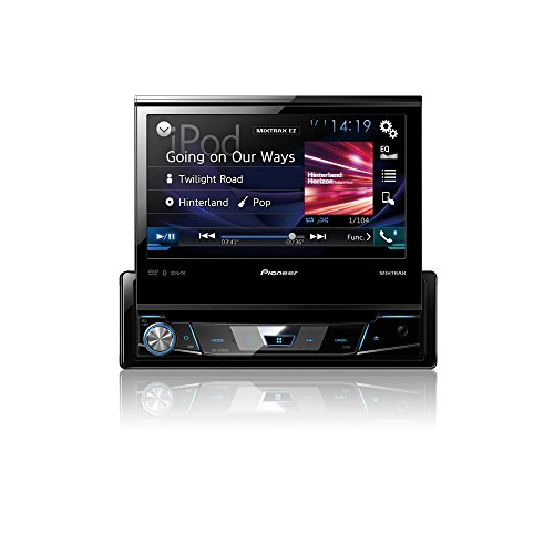 Mediacenter Moniceiver 1 DIN AVH-X7800BT Pioneer Radio mit ausfahrbarem Bildschirm 7 Zoll Touchscreen Monitor, Bluetooth Freisprecheinrichtung, CD, DVD, RDS, USB, AUX, Android & iPod/iPhone kompatibel (Pioneer Doppel-din Bluetooth Dvd)