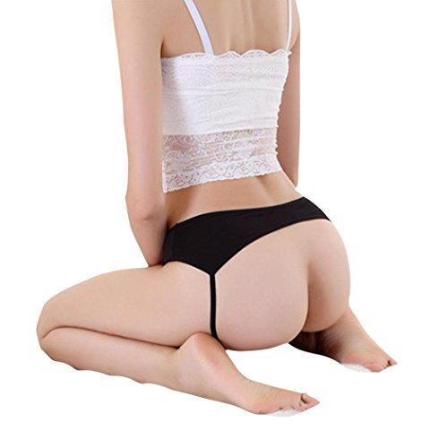 SUCES Frauen reizvolle Spitze geöffneter Kolben-Backless Schlüpfer Zapfen Wäsche Unterwäsche Damen Spitze Panty Sexy Unterwäsche Panties Slips Pantyhose Hipster (Black)