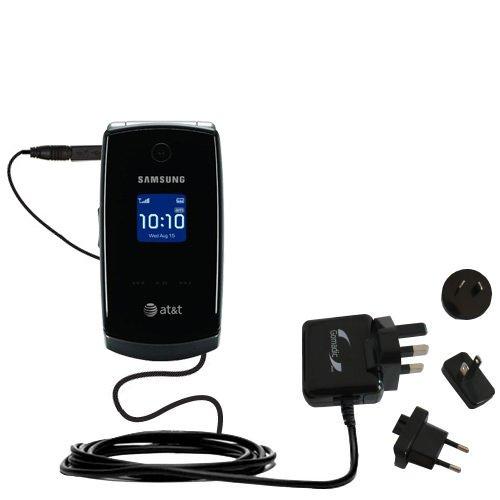 Das 10W Wandsteckdosen-Ladegerät International AC kompatibel mit Samsung SGH-A517 Mit TipExchange von Gomadic