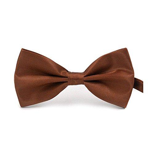 Boolavard klassische Hochzeit Bowtie Krawatte Fliege Neuheit Tuxedo Fashion einstellbar (Kaffee) -