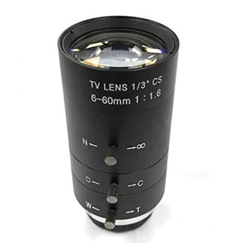 CCTV Video Lens Manual IRIS Zoom 6-60mm CS Mount Lens for Industrial Microscope Varifocal CCTV Lens Surveillance Camera Lens Zoom Manual Iris