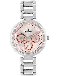 Titan Youth Analog Pink Dial Women's Watch -NK2480SM05