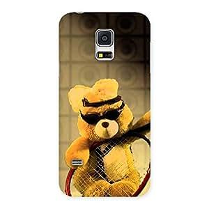 Stylish Teddy Racket Back Case Cover for Galaxy S5 Mini