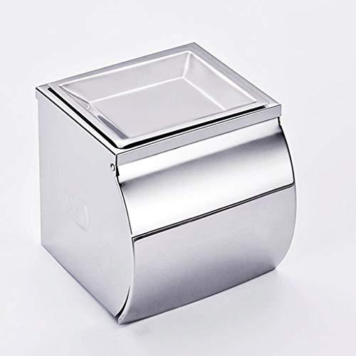 XU FENG Toilettenpapierhalter, Wandhalterung mit Handyablage Regal SUS 304 Edelstahl Toilettenpapierhalter, Wasserdicht geschlossen