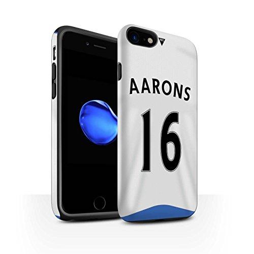 Officiel Newcastle United FC Coque / Matte Robuste Antichoc Etui pour Apple iPhone 7 / Taylor Design / NUFC Maillot Domicile 15/16 Collection Aarons