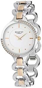 Regent - 12230618 - Montre Femme - Quartz Analogique - Bracelet Acier Inoxydable Multicolore