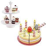 Unbekannt Le Toy Van Kuchen + Kekse mit Etagere von Kids Concept - Perfektes Set für Kaufladen und Kinderküche