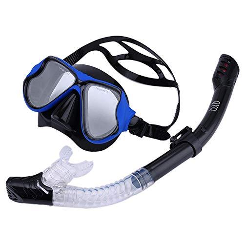 SUPERLOVE Masque de plongée Set Tube de Respiration lentille sèche imperméable Anti-buée Masque de plongée Ceinture de plongée Ceinture Facile Enfant Adulte réglable