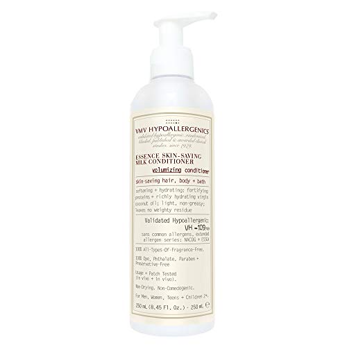 Skin-saving milk conditioner, Fine hair is left looking bouncy and shiny without frizz or flyaway, Its milky texture is infused with soothing botanicals to manage rashes, acne and other skin irritations while hydrating your hair and scalp