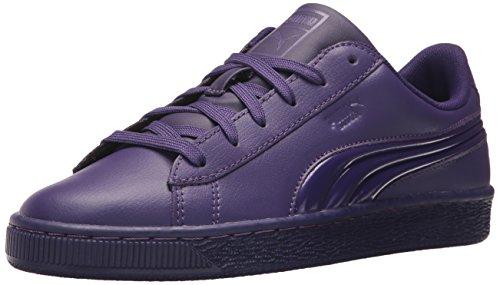 PUMA Unisex-Kids Basket Classic 3D FS Sneaker  Violet Indigo-Violet Indigo  11 5 M US Little Kid