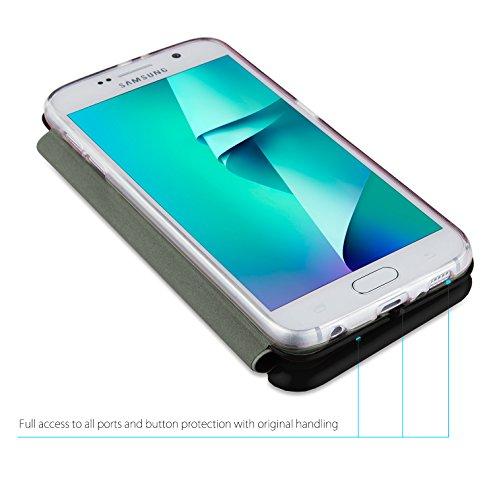 MyGadget Samsung Galaxy S7 Hülle ( 5,1 Zoll ) *ultra dünn* aus Plastik PC in Schutzhülle Cover Case Bumper in Transparent Flip Case Schwarz
