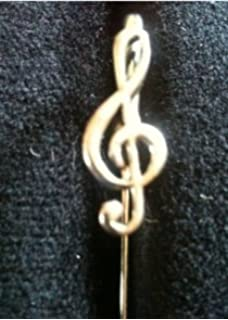 free UK postage Musical Bass Clef Hand-Crafted English Pewter Badge