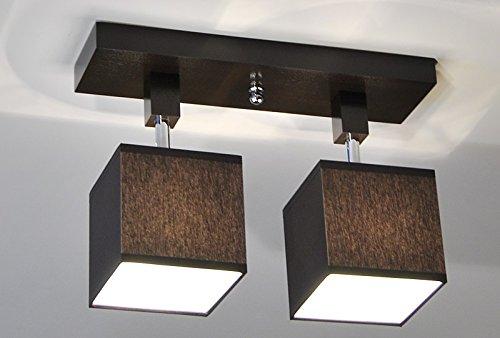 Plafoniere Per Tetto In Legno : Plafoniera illuminazione a soffitto in legno massiccio lls212dpr