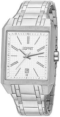 Esprit  Monterey Silver - Reloj de cuarzo para hombre, con correa de acero inoxidable, color blanco
