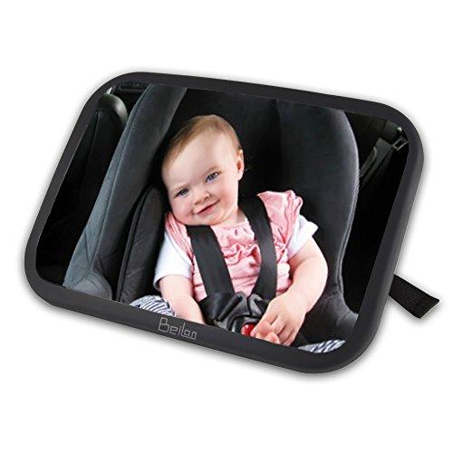 Baby-Auto-Spiegel Hinten Hinten Kind Sicherheit Auto Sitz Spiegel Rückansicht Rücksitz Spiegel komplett montiert und verstellbar mit breit konvexen bruchsicheren Glas, Crash getestet für Sicherheit (Die Ansicht Halloween)