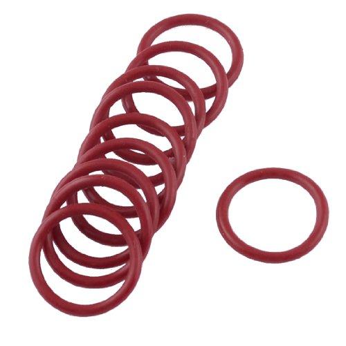 10PCS Weiche Gummi O Ringe Dichtung Unterlegscheiben Ersatz rot 23mm x 2,5mm
