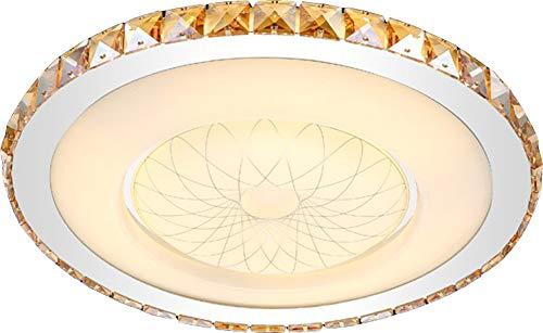 LED Deckenleuchte 2017-800 Kristall bernstern Ø 80cm inkl.LEDs und Fernbedienung Lichtfarbe/Helligkeit einstellbar 64w [Energieklasse A+] (bernstein) -