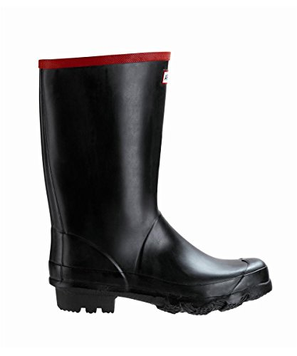 Hunter Argyll Short Wellington Boot, Black (Size 5)