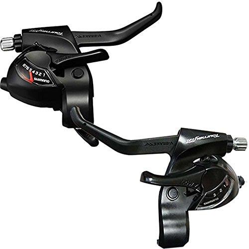 Shimano Fahrrad Schalt- BremshebelTourneyTX 3x8 schwarz, Satz mit Kabeln