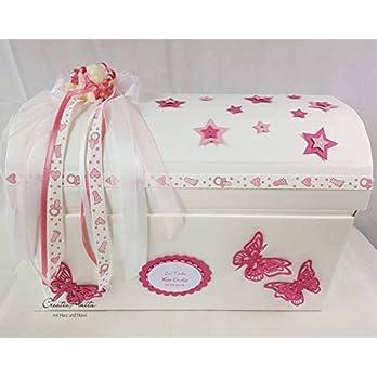 Erinnerungstruhe Erinnerungsbox STERNENKIND PINK Geschenkschachtel