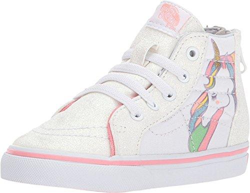 Zip VN0A32R3QR1 (Unicorn) Rainbow/White Glitter Toddler 4.5 ()