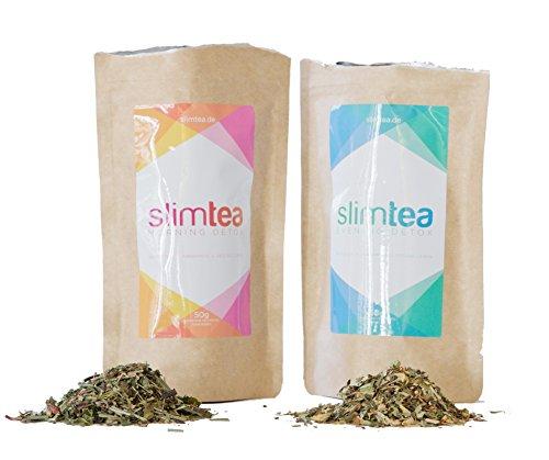 Slimtea Detox Tee 18-Tage-Kur | Natürlich Entgiften & Entschlacken mit Tee | Optimale Ergänzung zu Diäten
