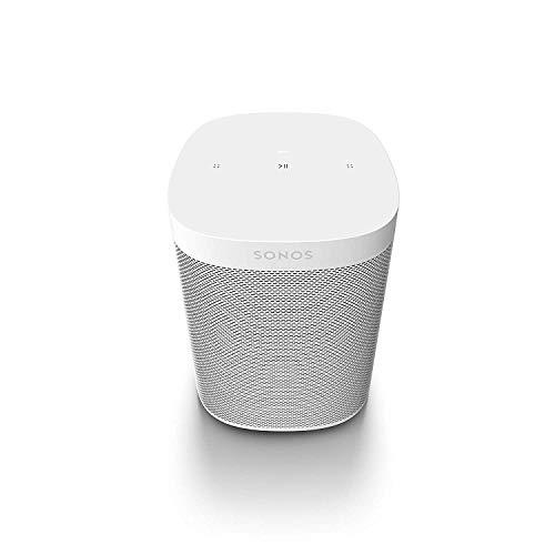 Sonos One SL All-In-One Smart Speaker (Kraftvoller WLAN Lautsprecher mit App-Steuerung und AirPlay 2 - Multiroom Speaker für unbegrenztes Musikstreaming) weiß, ohne Sprachsteuerung