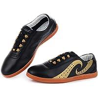 Jinji - Chaussures De La Peau Autres Arts Martiaux Mens, Couleur Noir, Taille 41 Eu 42 = Asiatique