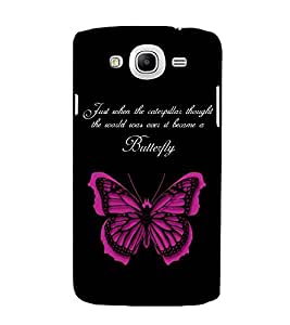 FUSON Life Is Butterfly 3D Hard Polycarbonate Designer Back Case Cover for Samsung Galaxy Mega 5.8 I9150 :: Samsung Galaxy Mega Duos 5.8 I9152