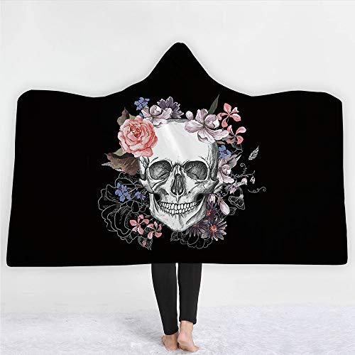 Rose Halloween Geist Crâne imprimé...