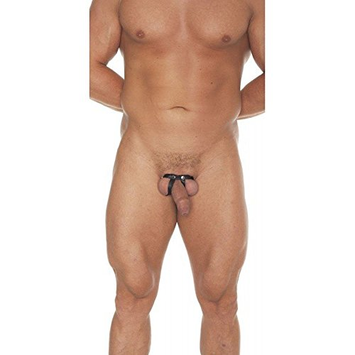 Erotic Fashion ra7417 Penisband , schwarz Echtes Leder, 1er-Pack (1 x 1 Stück)
