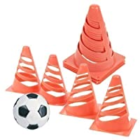 Set of 4 Traffic Marking Cones Kids Football Boundary Markers