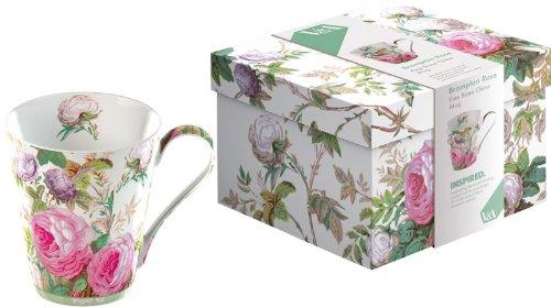 Tasse de Porcelaine Fine 'Brompton Rose' avec Boîte à Cadeau