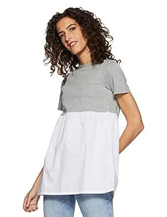 VERO MODA Women's Body Blouse Top (10173858-1852381002_Grey_XS)