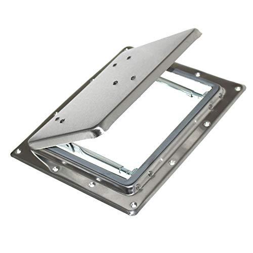 1 Metall Klappe Ausstellfenster Dachluke Lüftungsklappe Fenster Luke Dachhaube Wohnwagen Caravan Neu Old-Harvest