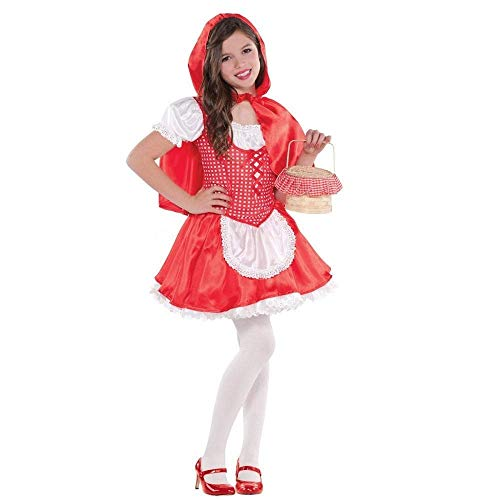B-kreatives Geschichtenbuch Little Red Riding Hood Halloween Kostüm Rolle Spielen Fancy Dress Party Premium-Outfit für KinderMädchen UK ()