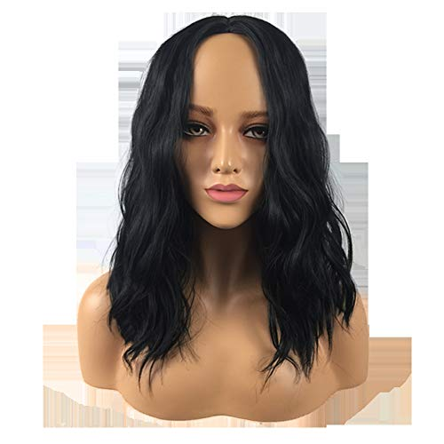 YYALL Glamourös Damen Perücken schwarz Fashion Hitzeresistente Synthetik Cosplay Party Kostüm Perücke Wig,Black