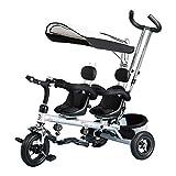 CHEERALL Triciclo per Bambini Trike, Trike per Bambini 4 in 1 Doppio con...