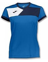 6550d9639 Joma Camiseta Crew II M C Royal-Marino Mujer - Camiseta técnica de Manga