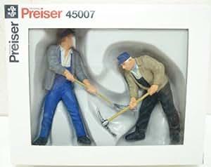 Preiser 1/22,50 Ème - PR45007 - Modélisme Ferroviaire - 2 Ouvriers de Voie avec Pioches