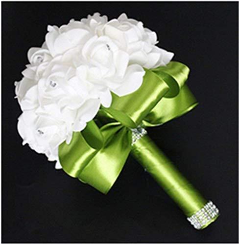 Hochzeit Blumen handgefertigt Braut Brautjungfer Bouquet künstliche Seide Blumen