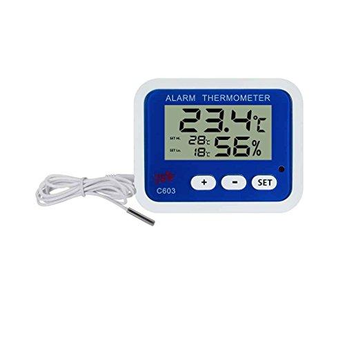 C603 Digital Kühlschrank Thermometer Hygrometer Indoor Outdoor Temperatur Luftfeuchtigkeit Meter mit Led Alarmanzeige