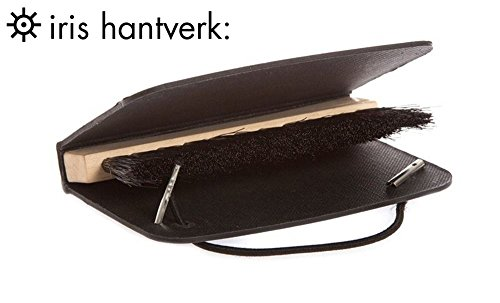 Iris Hantverk Wooden And Horsehair Pocket Travel Clothes Brush With Wallet