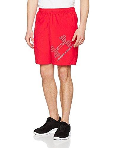 Under armour, ua woven graphic short, pantaloncino, uomo, rosso (red/black 600), m