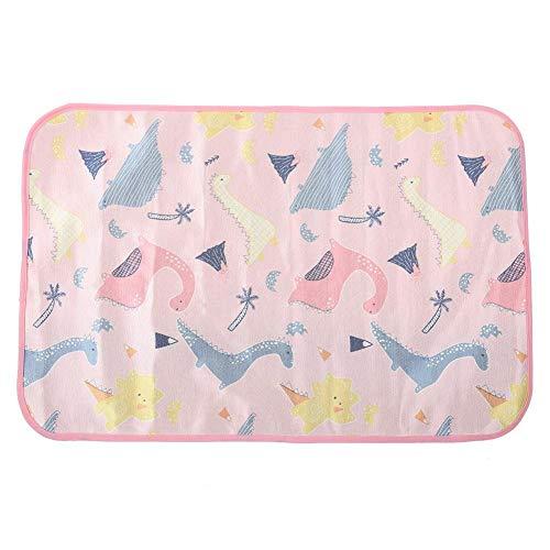 Naroote Pet Pee Pad, wasserdicht waschbar Wiederverwendbare Hundewelpentraining Pee Pads Kühlung Schlafkissen(Rosa) -