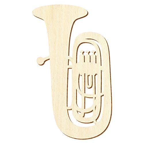 Holz Tuba - Deko Zuschnitte Größenauswahl, Pack mit:50 Stück, Größe:42cm