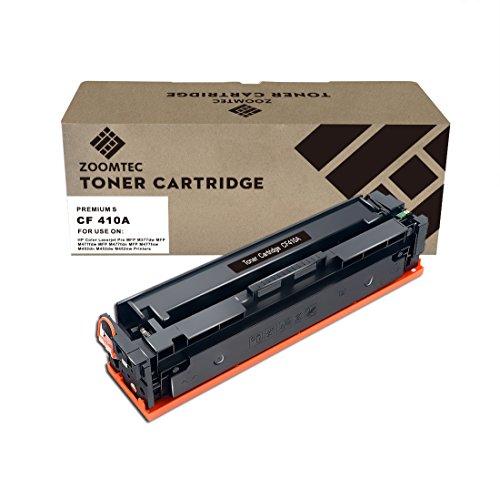ZOOMTEC Compatibile con HP 410A CF410A Cartuccia Toner compatibile per HP Color Laserjet Pro MFP M477fdn M477fdw M477fnw M452DN M452dw M452nw M377dw -Black
